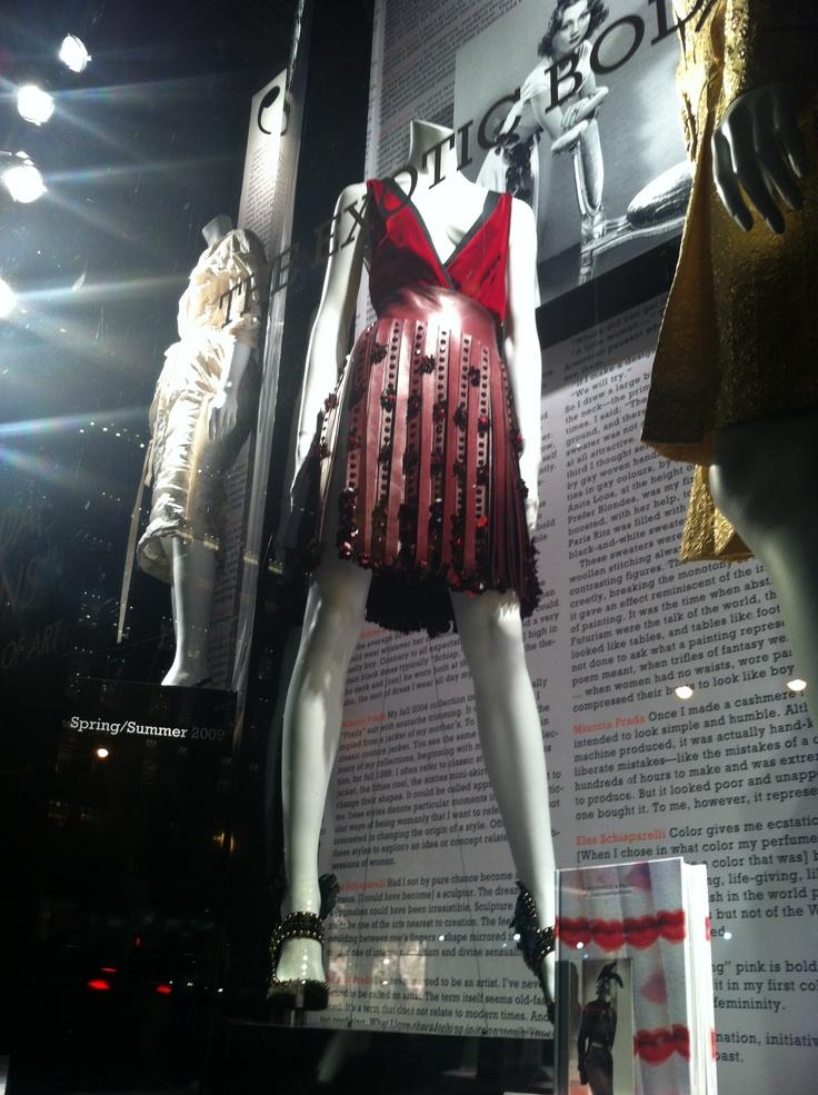 Bergdorf Goodman 5th Ave Windows   Schiaparelli and Prada: Impossible Conversations