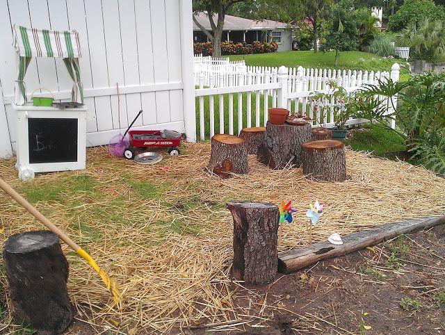 backyard play area natural play outdoors pinterest