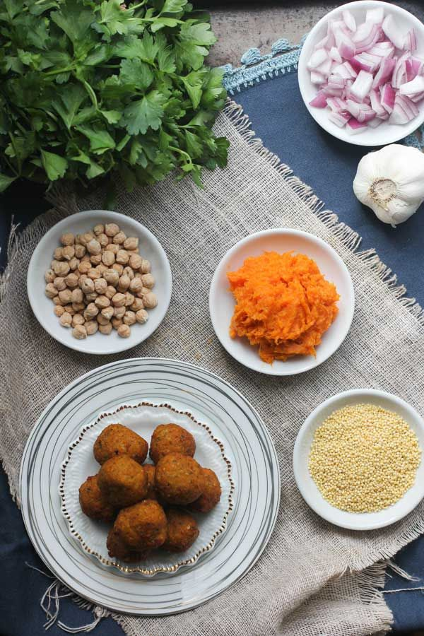 Sweet Potato and Millet Falafel can be baked, pan-fried, or deep-fried ...
