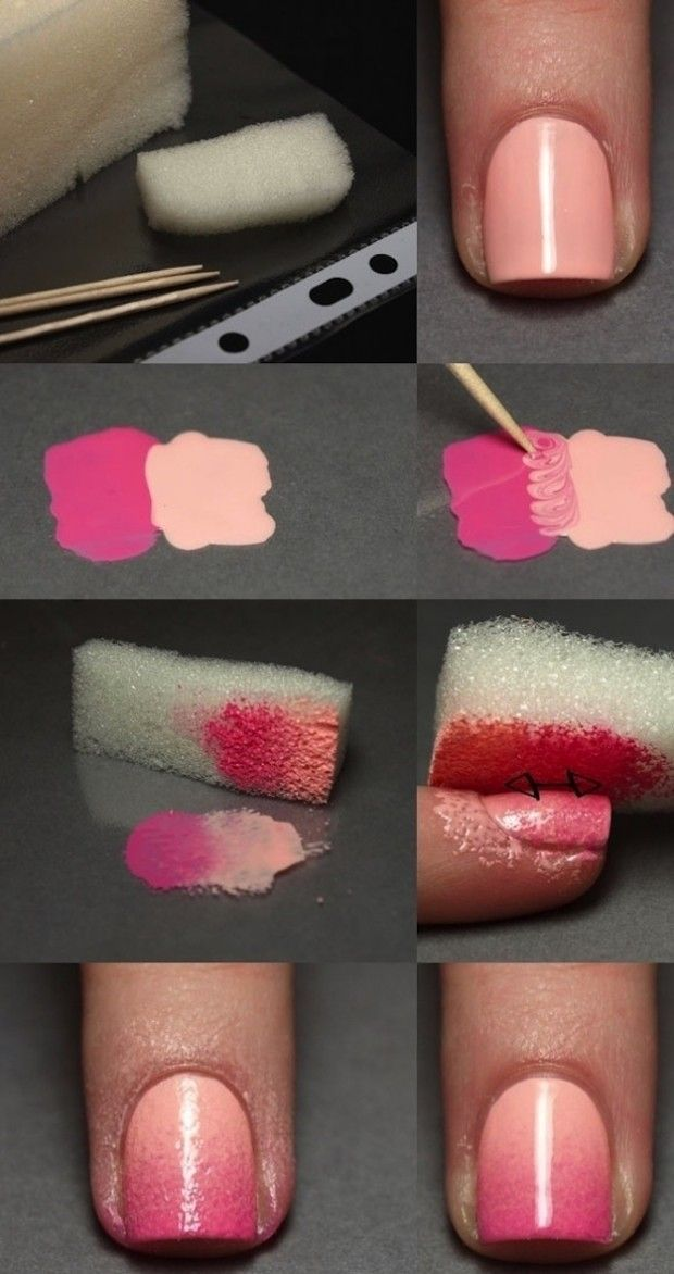 Tutorial manicure sfumata