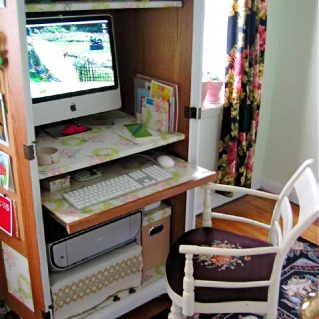 Armoir desk   Office/desk ideas   Pinterest