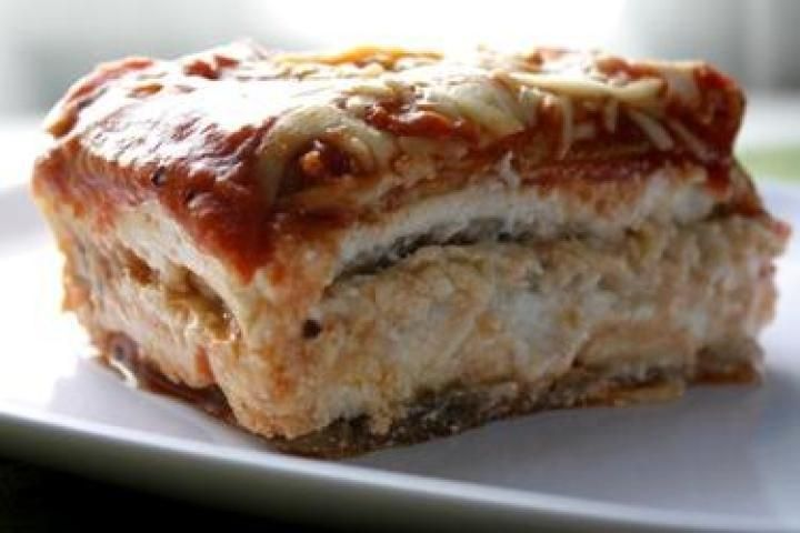 Vegetarian Four Cheese Lasagna Recipe, with pumpkin and eggplant