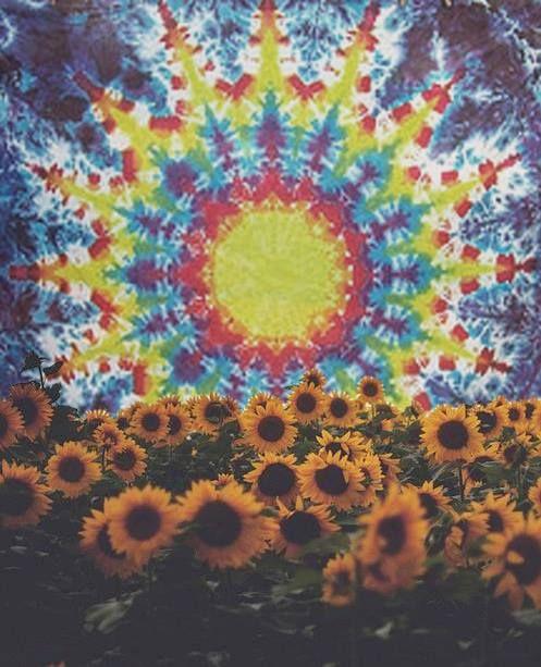 Sunflowers And Tie Dye Flower Pinterest