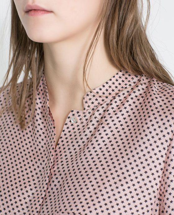 Zara Star Print Blouse 121