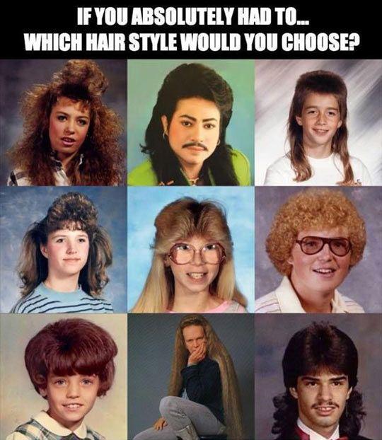 Choosing a hair style…