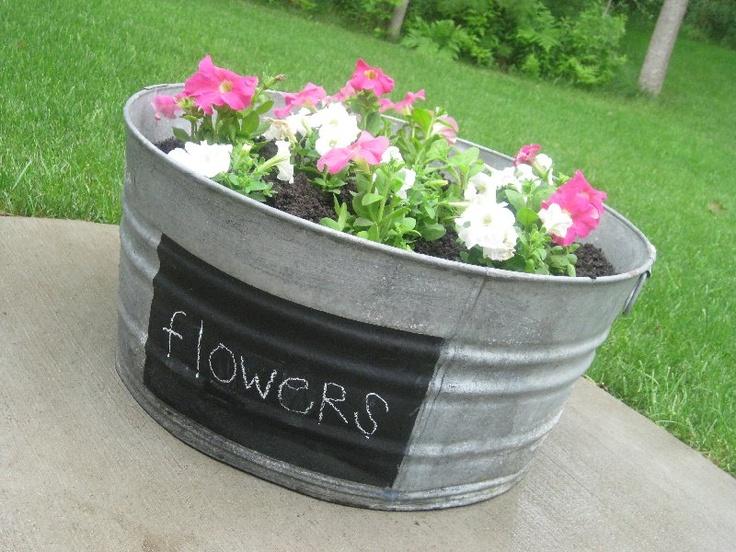 Garden wash tub | DIY: Craft | Pinterest