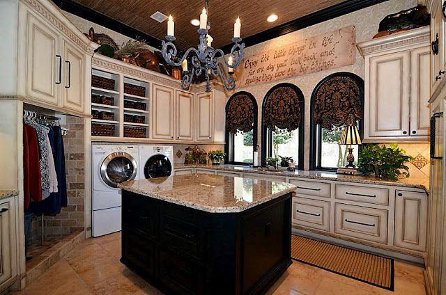 Laundry room. Wow!!!  In my dreams <3