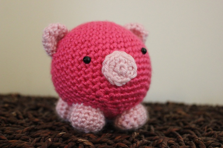 Cute Amigurumi Pigs : Cute Crochet Pink Pig Amigurumi Doll Toy - Unique ...