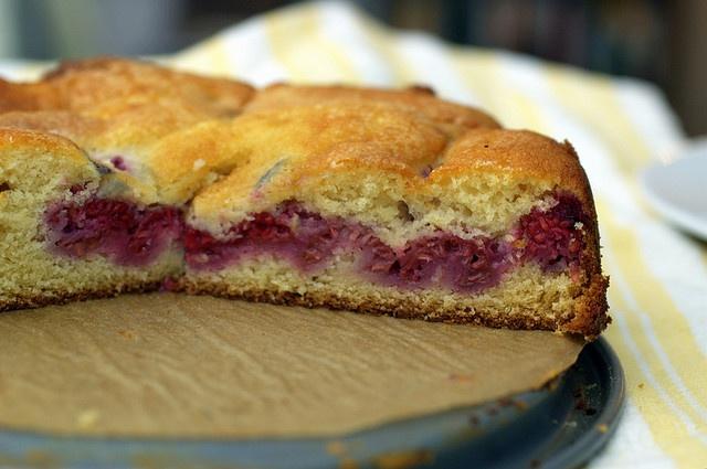 Raspberry Buttermilk Cake Recipe — Dishmaps