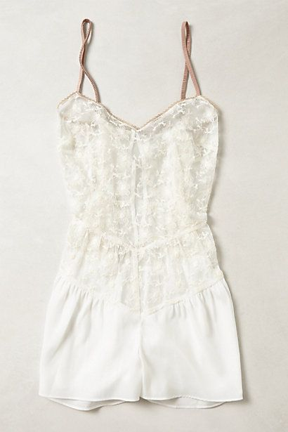 Daylily Romper #anthropologie - although I think rompers are a bit impractical, the fine details on this are exquisite