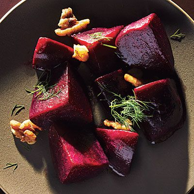 Beets with Dill and Walnuts - Pressure Cooker Recipes - Cooking Light