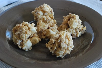 White Chocolate Peanut Butter Crispy Balls