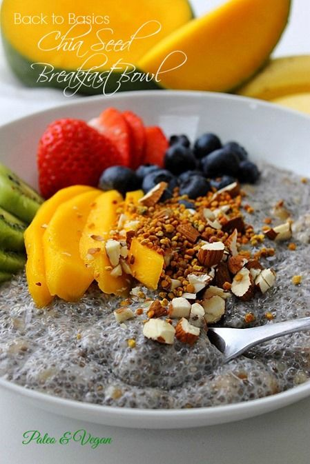 Chia Seed Breakfast Bowl | Healthy Living: Ideas and Recipes | Pinter ...