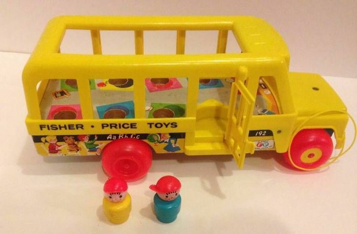 yellow school bus vintage fisher price little people play family 192. Black Bedroom Furniture Sets. Home Design Ideas