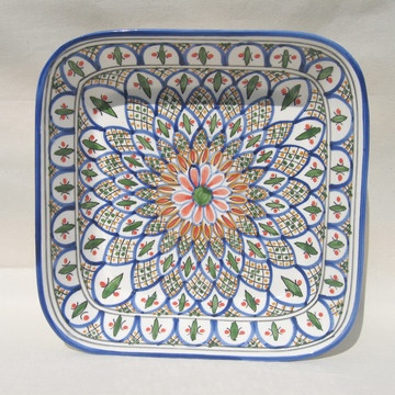 Hand Painted Tabarka Square Serving Bowl now featured on Fab.