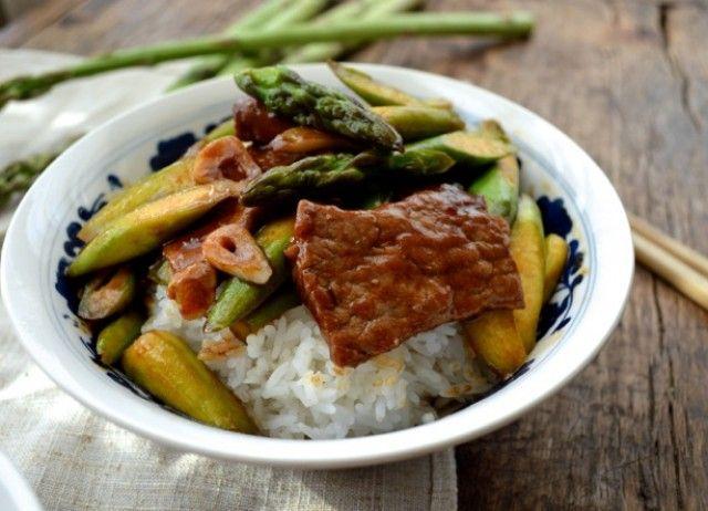 Spring asparagus beef stir-fry | Recipe