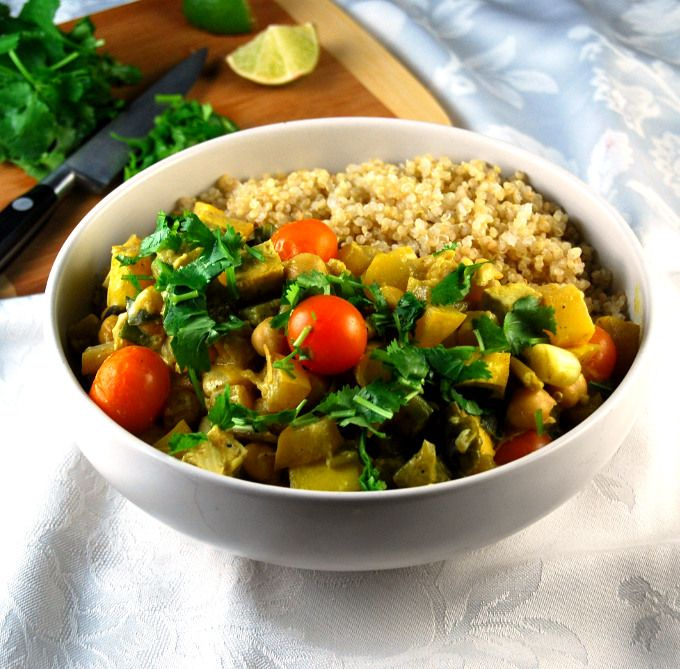 Tofu Curry with Chickpeas and Summer Vegetables | Recipe