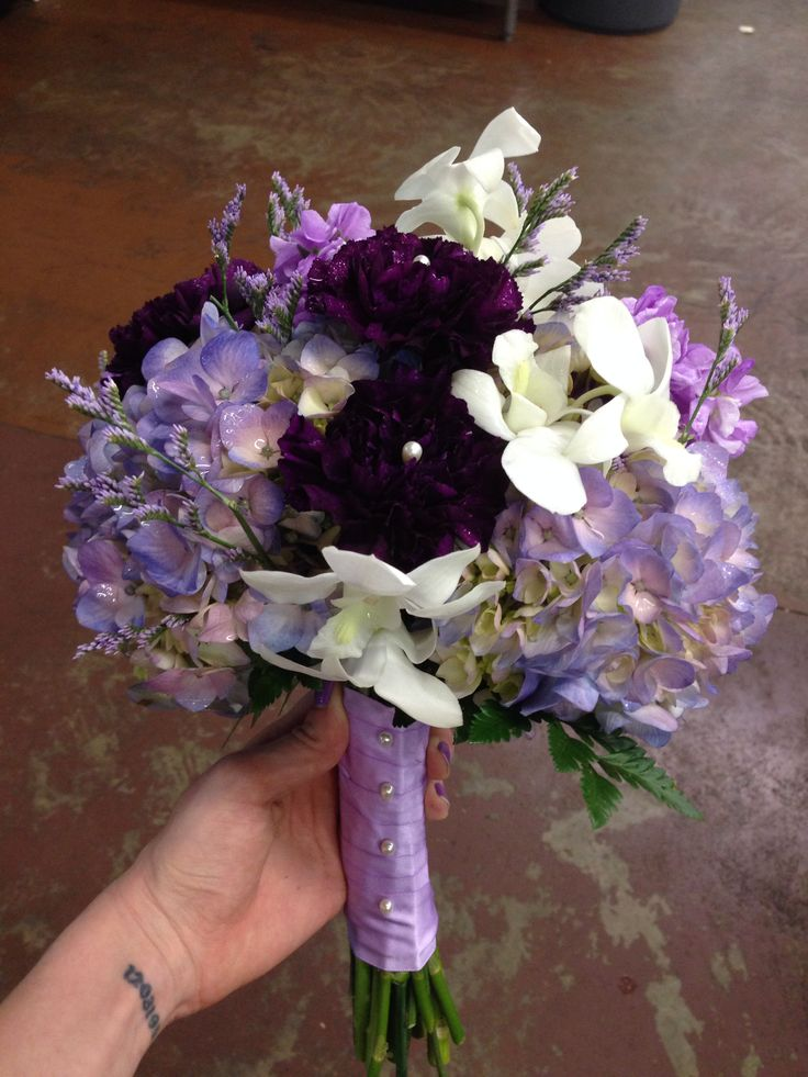 Bouquet With Hydrangea And Orchids Wedding Flowers Memphis Tn