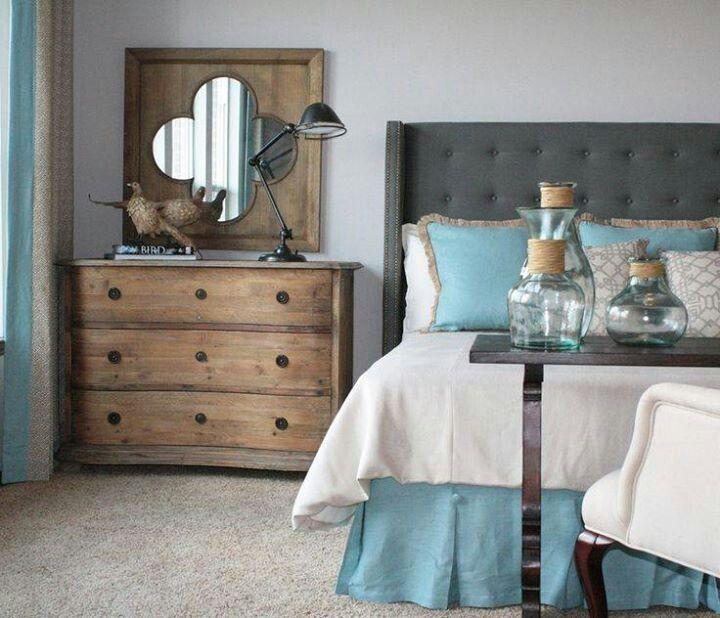 turquoise grey wood bedroom bedrooms pinterest