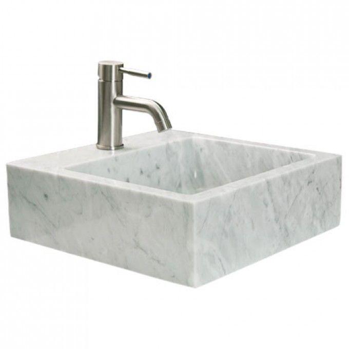 Square Marble Sink : Polished Square Marble Vessel Sink - Bathroom Sinks - Bathroom