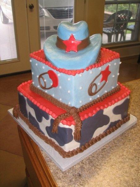 baby cowboy cake