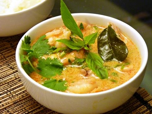 Thai Red Seafood Curry | My recipes in Japanese | Pinterest