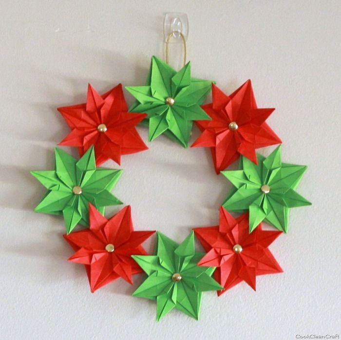 origami wreath origami crafts pinterest