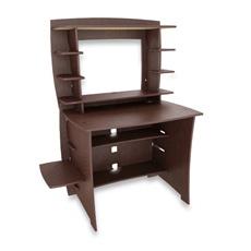 Legare Espresso Desk with Hutch | Home Office Ideas | Pinterest
