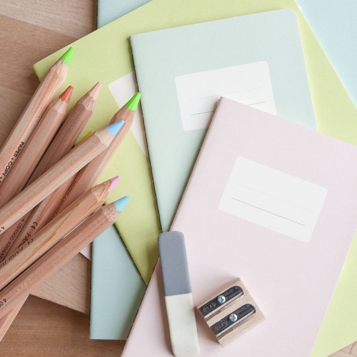 pastel notebooks