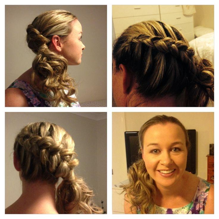 Side Dutch braid with GHD curls   Our wedding   Pinterest