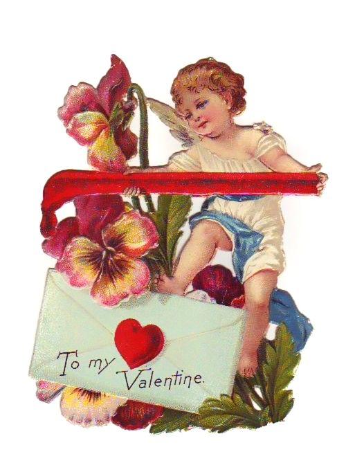 Victorian Valentine Die Cut Scrap, 1800s