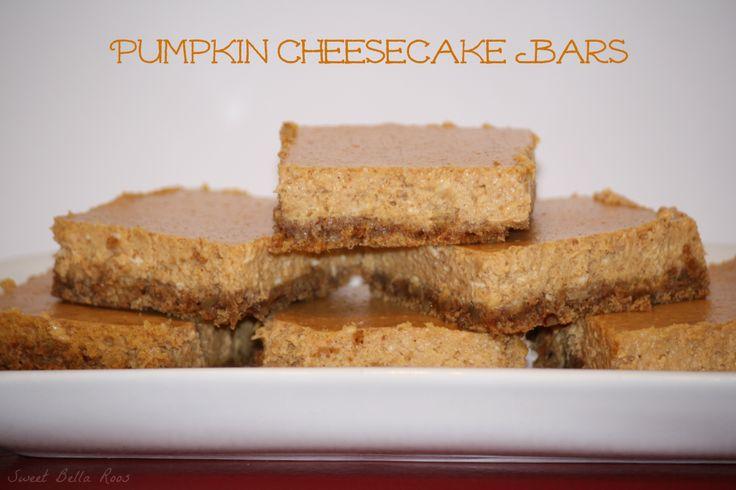 pumpkin cheesecake bars - I'm still on a pumpkin kick
