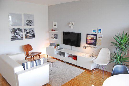 La decoración en blanco te ayudará a que tu espacio se vea más amplio.