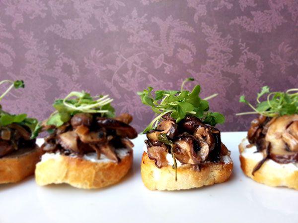 wild mushroom bruschetta | Food & Drink | Pinterest