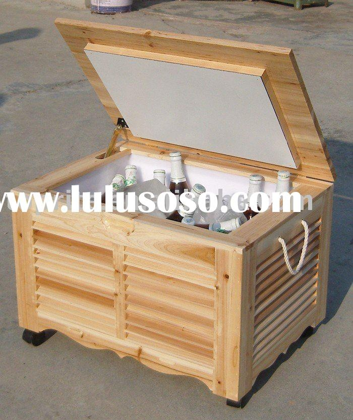 Wooden ice cooler build it yourself pinterest for Wooden beer cooler plans