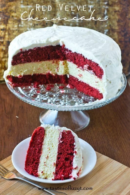 Red Velvet Cheesecake {Tastes of Lizzy T} http://www.tastesoflizzyt ...