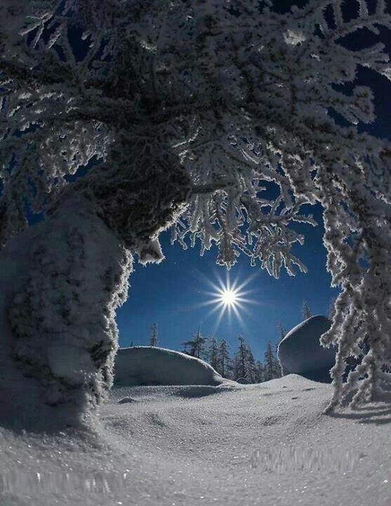 winter scenes of sun - photo #7