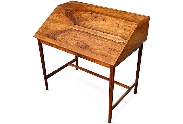 Drop front danish desk for Small drop down desk