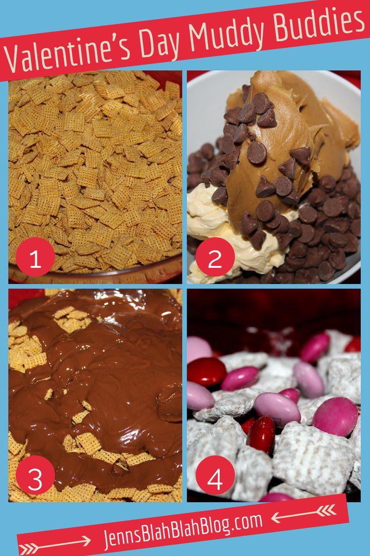 Valentines Day Muddy Buddy Recipe Peanut Butter Chocolate Valentines Day Recipes: How To Make Valentines Day Muddy Buddies!