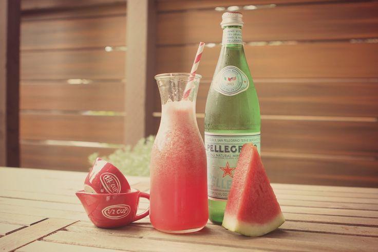 Rustic Peach: Sparkling Watermelonade | Preggatinis | Pinterest