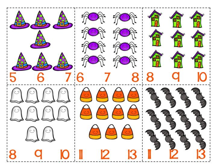 count and clip, halloween math
