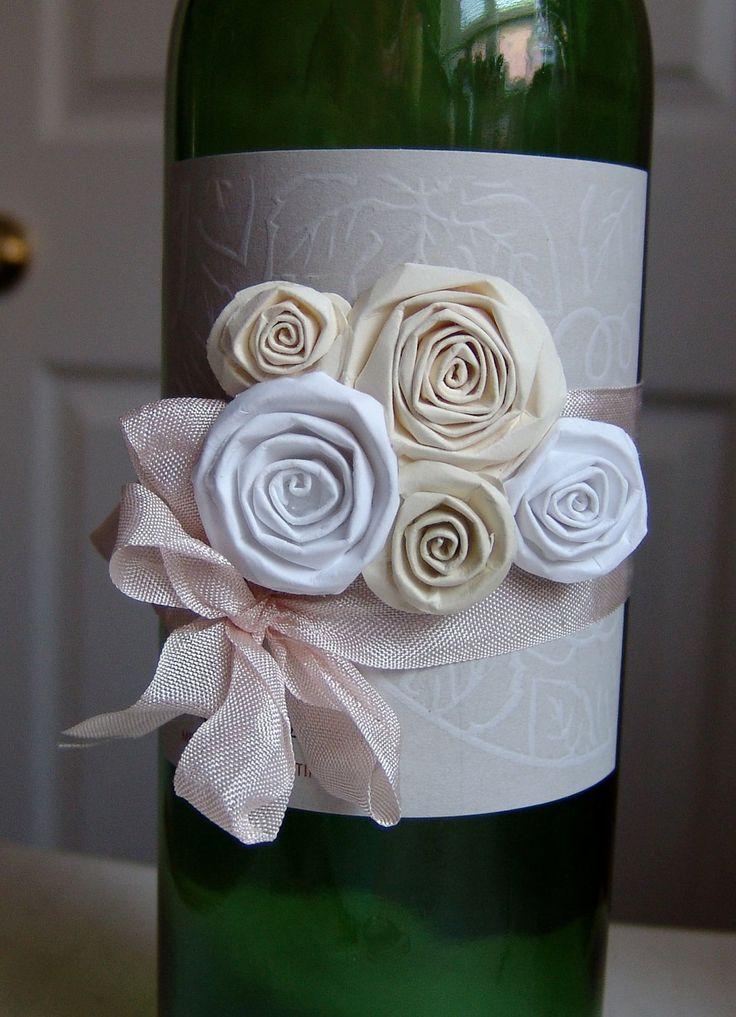 Wine Bottle Wedding Gift Idea : wine bottle decorations for weddings ... Wine Bottle Decoration Gift ...