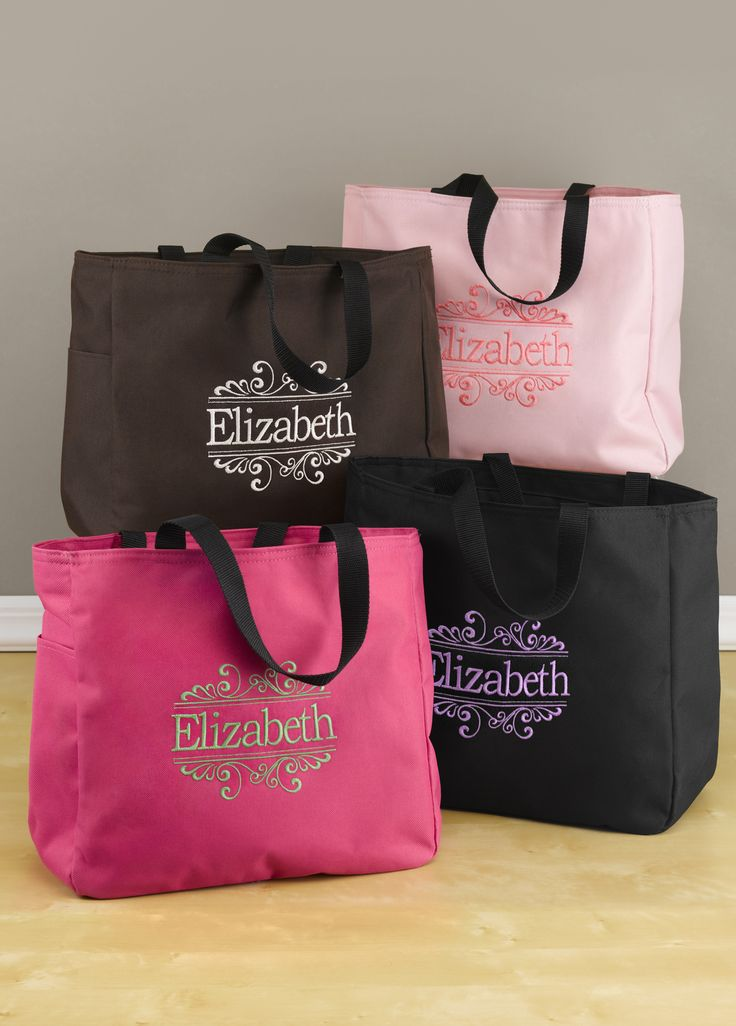 Unique Wedding Gift Bag Ideas : Gift your bridesmaids with a tote bag that is perfectly sized for ...