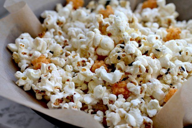 Furikake Popcorn--my mouth is watering remembering how yummy this was