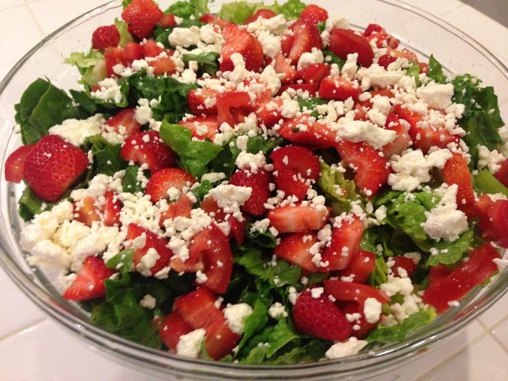 Strawberry and Feta salad!   J'aime La Photographie   Pinterest