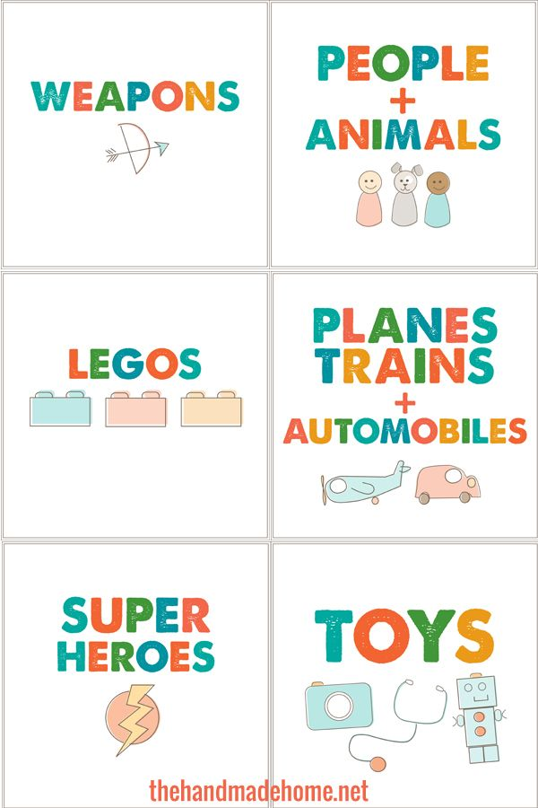 Toy Box Labels Printable | Search Results | Calendar 2015