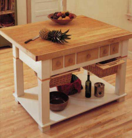 Classic Kitchen Island Plan. Woodworkersjournal.com