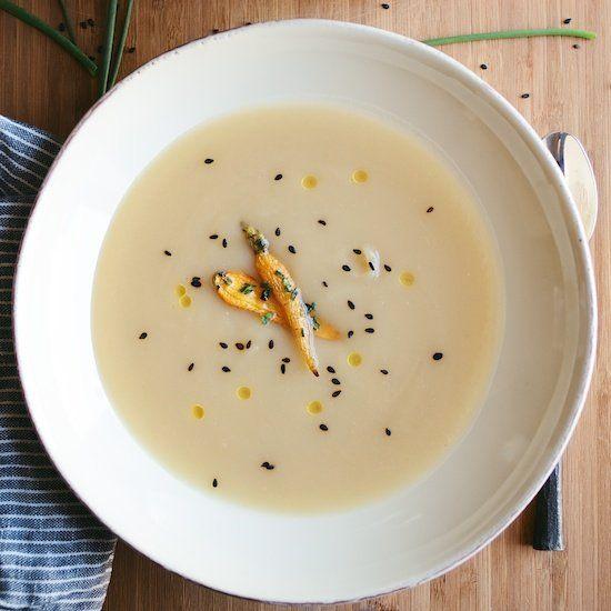 Miso-Yam Soup w/ Sesame Roasted Carrots. | Noms | Pinterest