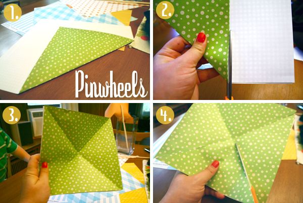 DIY pinwheels - sure to be of use some day.