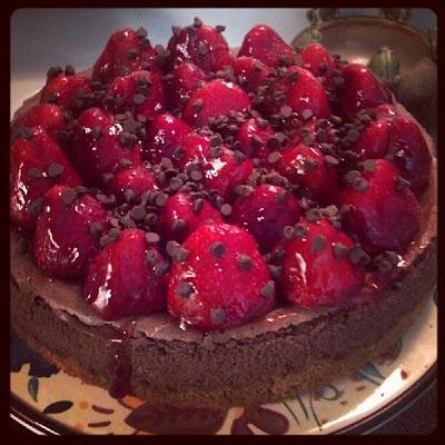Chocolate Strawberry Cheesecake | Yum! | Pinterest